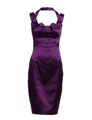 Karen Millen Dn194 Beautiful Satin Dresses - Purple