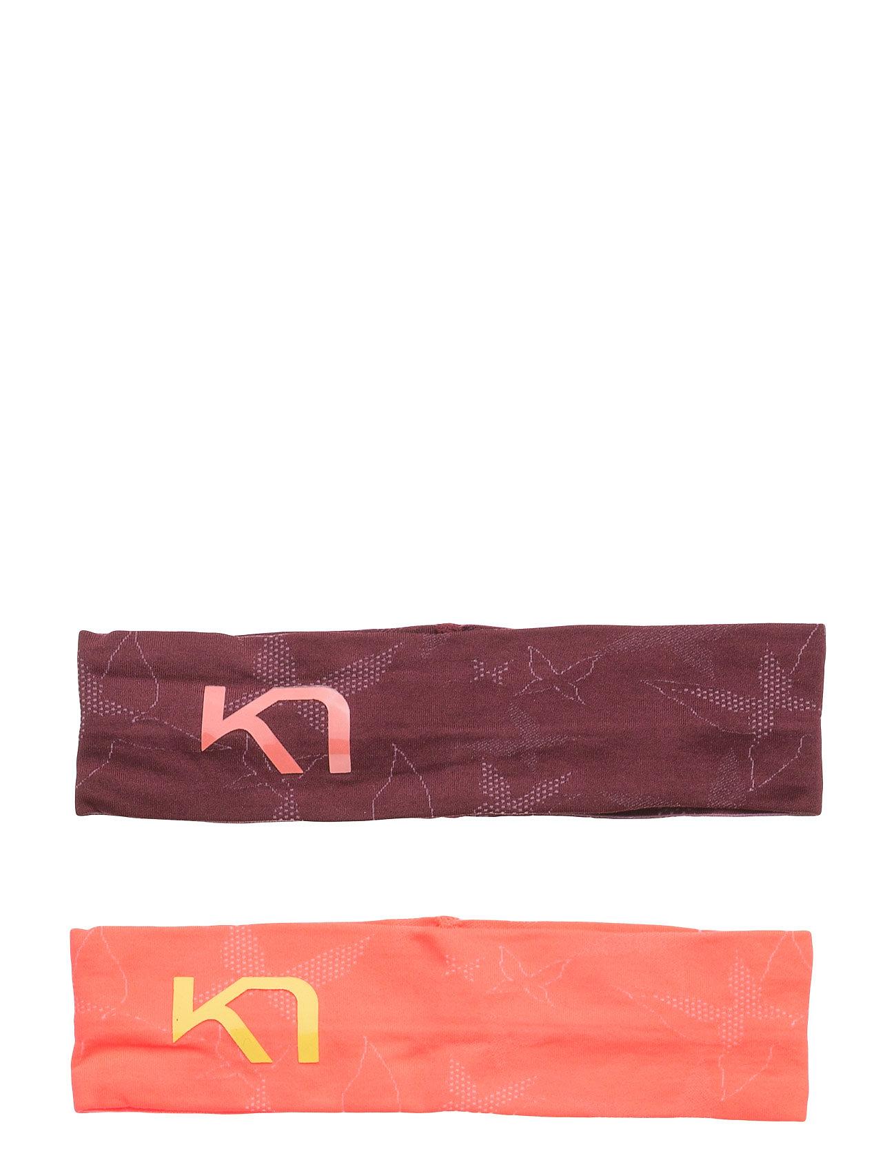 Butterfly Headband 2pk Kari Traa Sports accessories til Damer i Koral