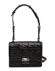 K/Kuilted Mini Handbag - BLACK GUNMETAL