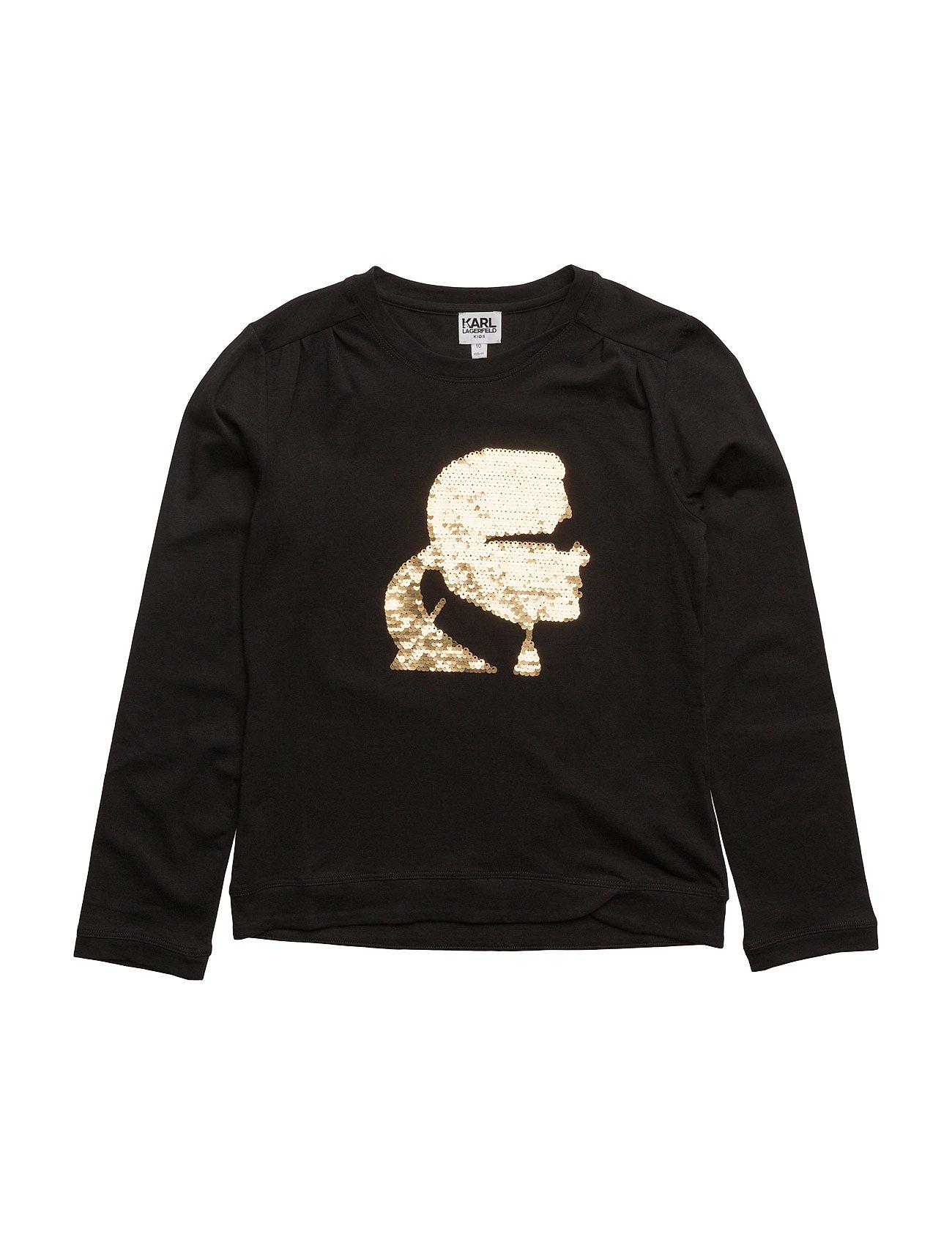 T-Shirt Karl Lagerfeld Langærmede t-shirts til Børn i Sort