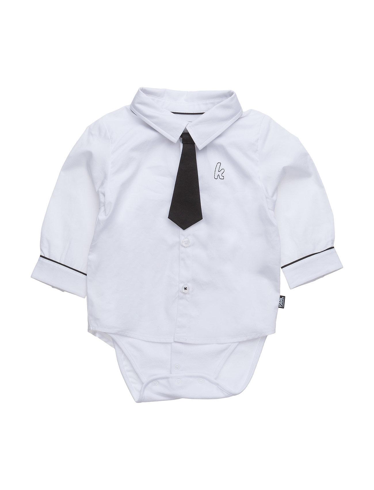 Body-Shirt Karl Lagerfeld Langærmede bodies til Børn i hvid