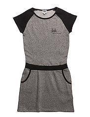 DRESS - GREY/BLACK