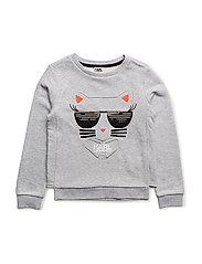 SWEATSHIRT - CHINE GREY