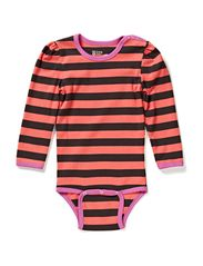 Cottonwear L/S Puff Body - Coral/grey