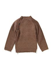 Chunky Knit Sweater - Brown