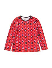 Printed Ess L/S Puff T-Shirt - Red midi space apple