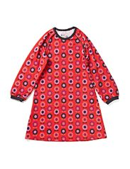 Printed Ess L/S Dress - Red midi space apple