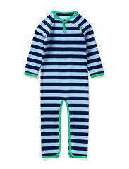 Cottonwear Bodysuit - Navy/Lt.bl