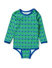 Printed Ess. L/S Body - Green/Blue