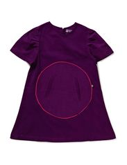 Soft Corduroy Circle Dress - Grape Juic