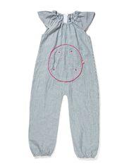 Soft Summer Cotton Girls Suit - Milk Strip