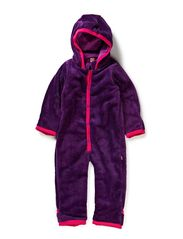 Terry Fleece Babysuit - Imperial