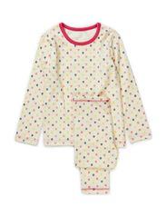 Micro Apple Pyjamas - Coral&Blac