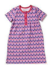 Printed Ess. S/S Dress - Purple/Fuc