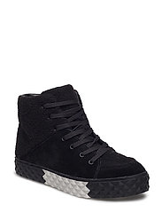 REBEL - BLACK MULTI SUEDE