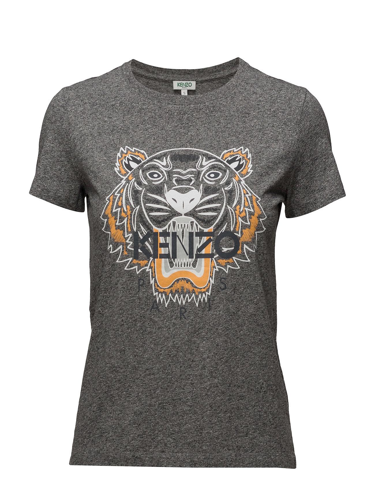 Knitted T-Shirt Special Kenzo Kortærmede til Damer i Antracit grå