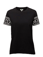 Knitted T-shirt Main - BLACK