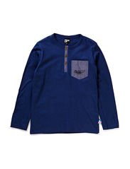 EMU T-SHIRT L/S - MICRO PEACHED - INFINITY BLUE