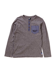 EMU T-SHIRT L/S - MICRO PEACHED - SEMI GREY MEL