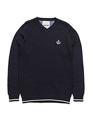 SAM KNIT PULLOVER - NAVY