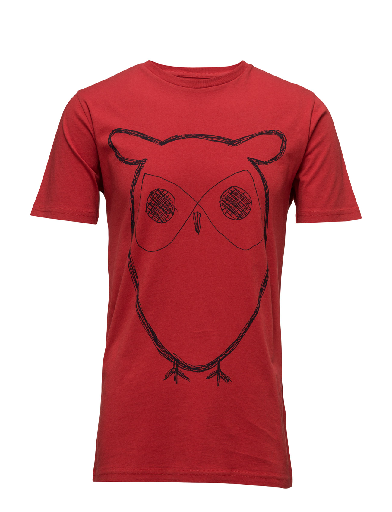 Single Jersey With Owl Print - Gots Knowledge Cotton Apparel Kortærmede til Herrer i