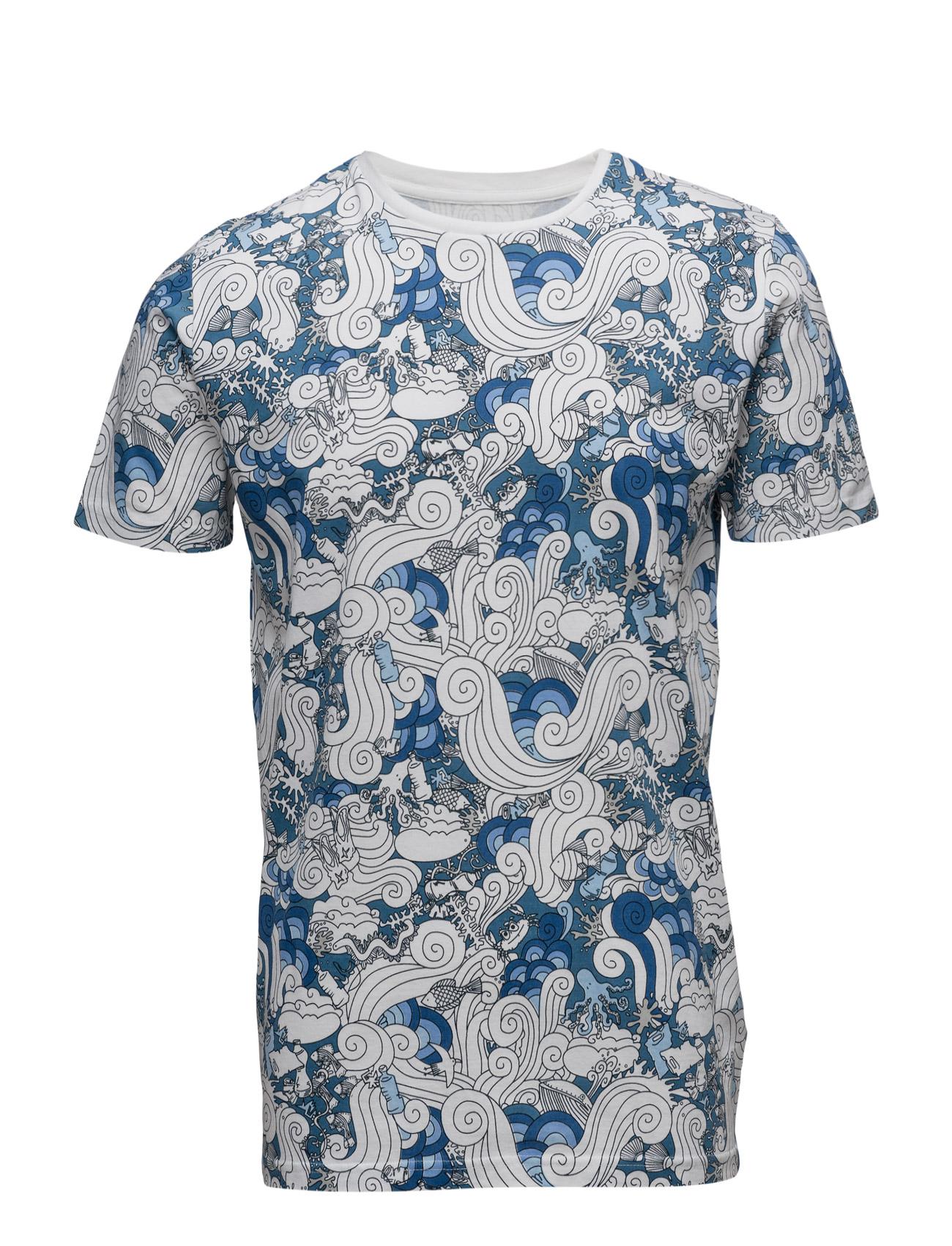 T-Shirt W/Waste Print - Gots Knowledge Cotton Apparel Kortærmede til Mænd i