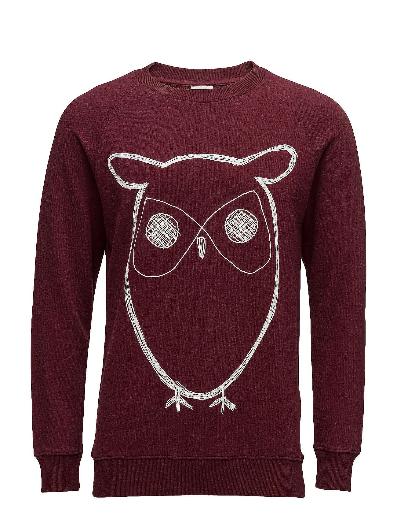 Sweat Shirt With Owl Print - Gots thumbnail