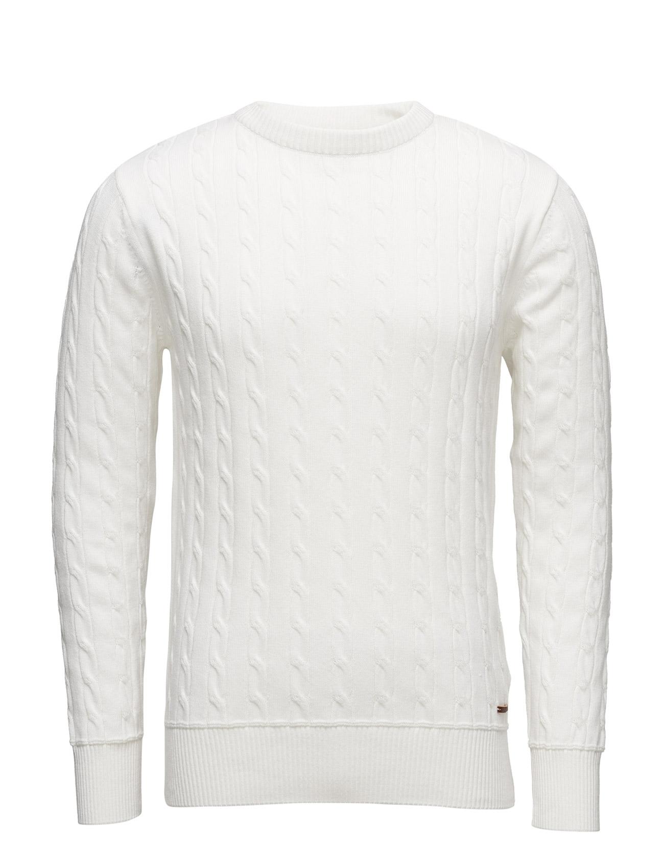 Cable Knit - Gots Knowledge Cotton Apparel Rundhalsede til Herrer i stjerne hvid