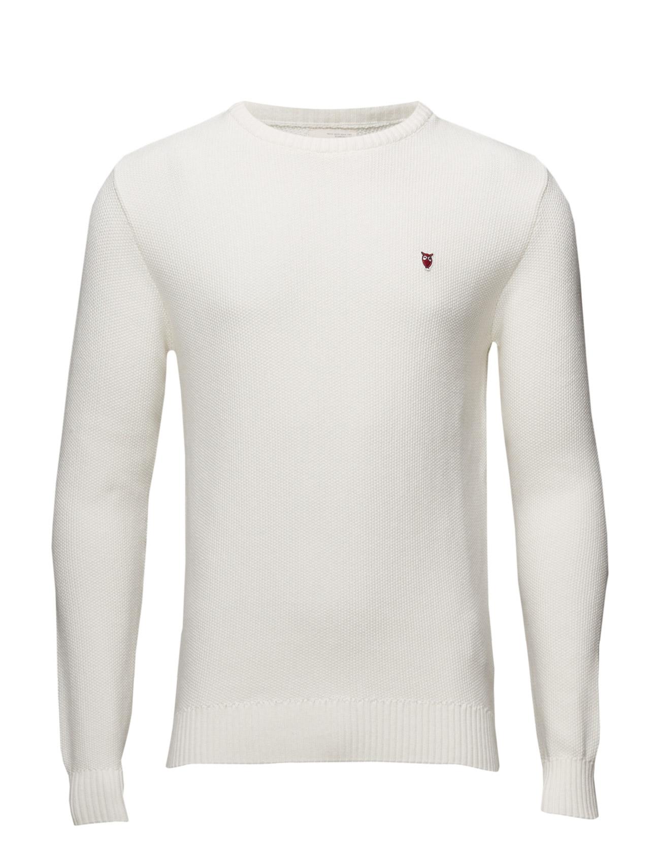 Basic Knit Knowledge Cotton Apparel Rundhalsede til Herrer i Winter White