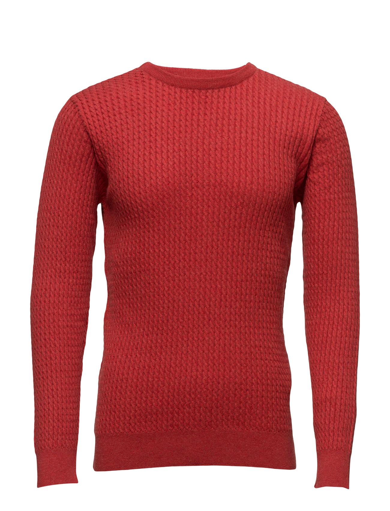 Cotton/Cashmere Cable Knit - Gots Knowledge Cotton Apparel Rundhalsede til Herrer i