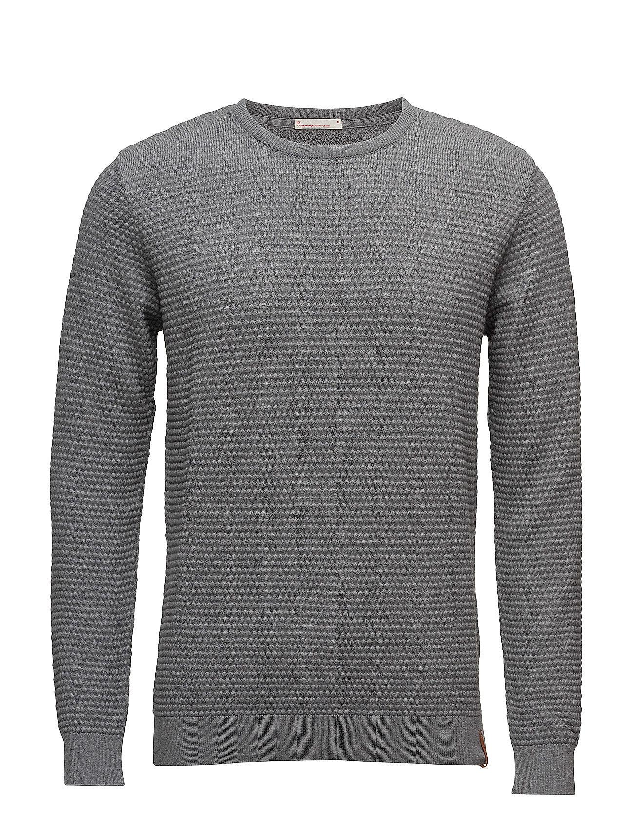 Sailor Pattern Knit - Gots Knowledge Cotton Apparel Striktøj til Mænd i Grey Melange