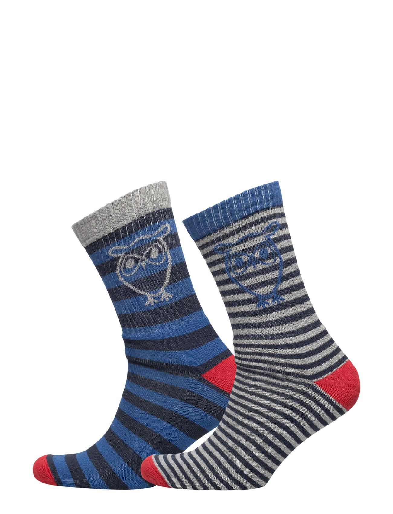 Tennis Socks 2pack Knowledge Cotton Apparel Sokker til Herrer i Total Eclipse