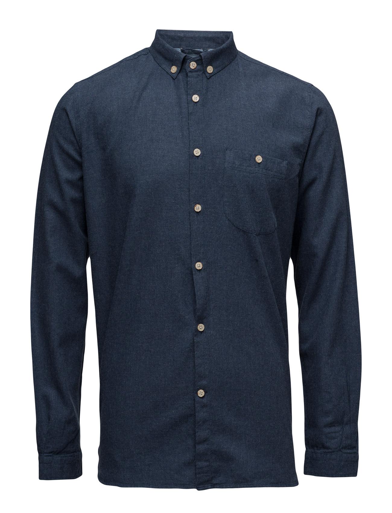 Solid Col. Flannel Shirt - Gots Knowledge Cotton Apparel Trøjer til Mænd i
