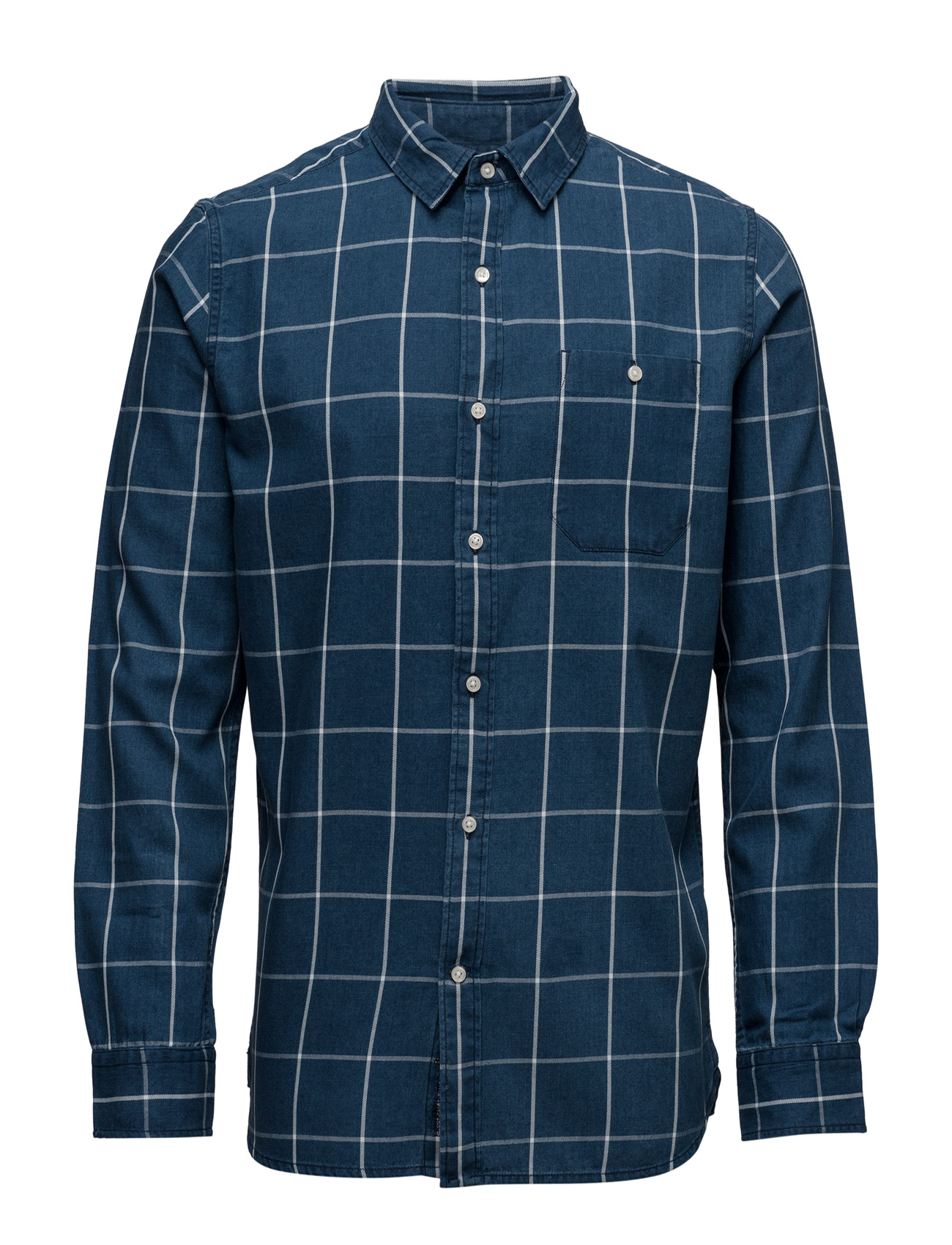 Yarndyed Checked Shirt - Gots Knowledge Cotton Apparel Casual sko til Herrer i Total Eclipse