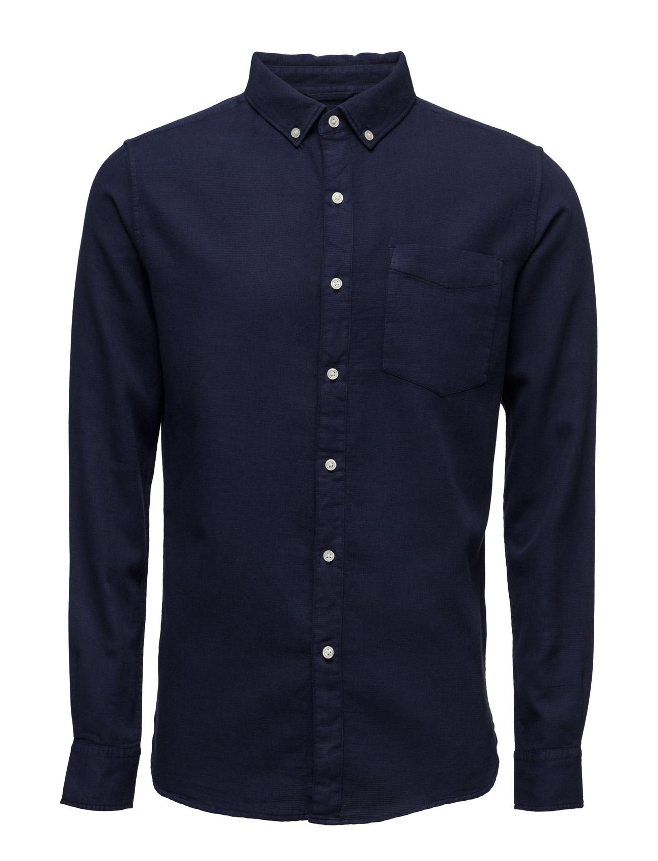 Indigo Shirt - Gots Knowledge Cotton Apparel Casual sko til Herrer i Total Eclipse