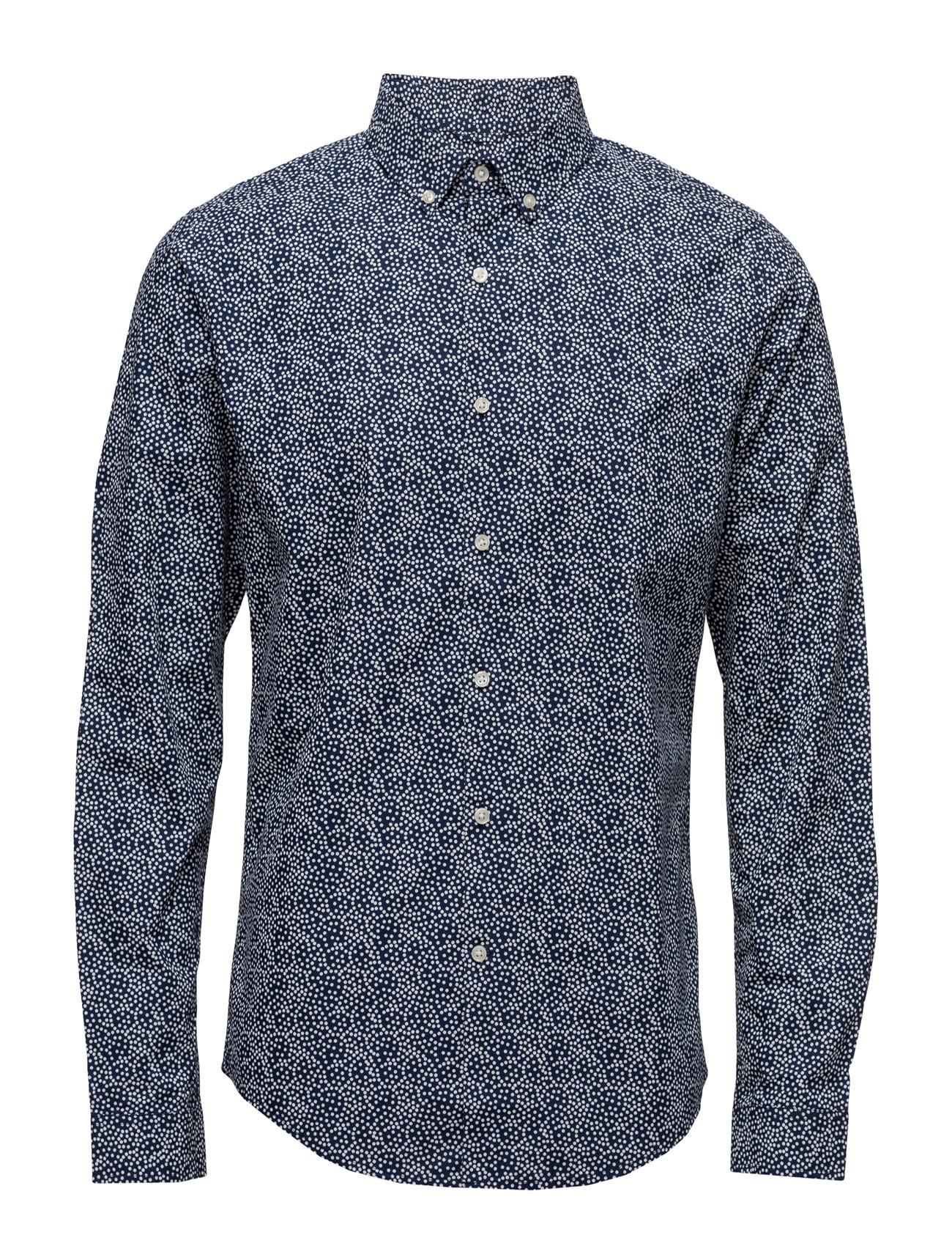 Circled Dot Printed Poplin Shirt - Knowledge Cotton Apparel Trøjer til Mænd i