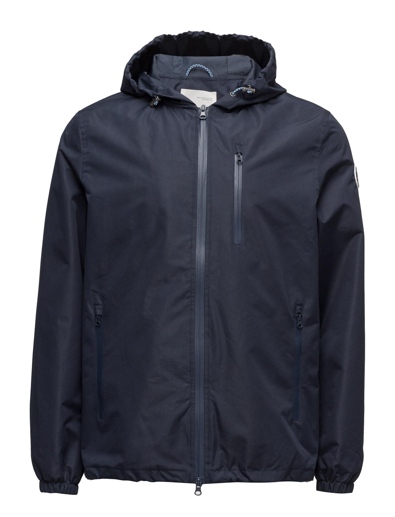 Functional Hood Jacket - Grs Knowledge Cotton Apparel Jakker til Herrer i Total Eclipse
