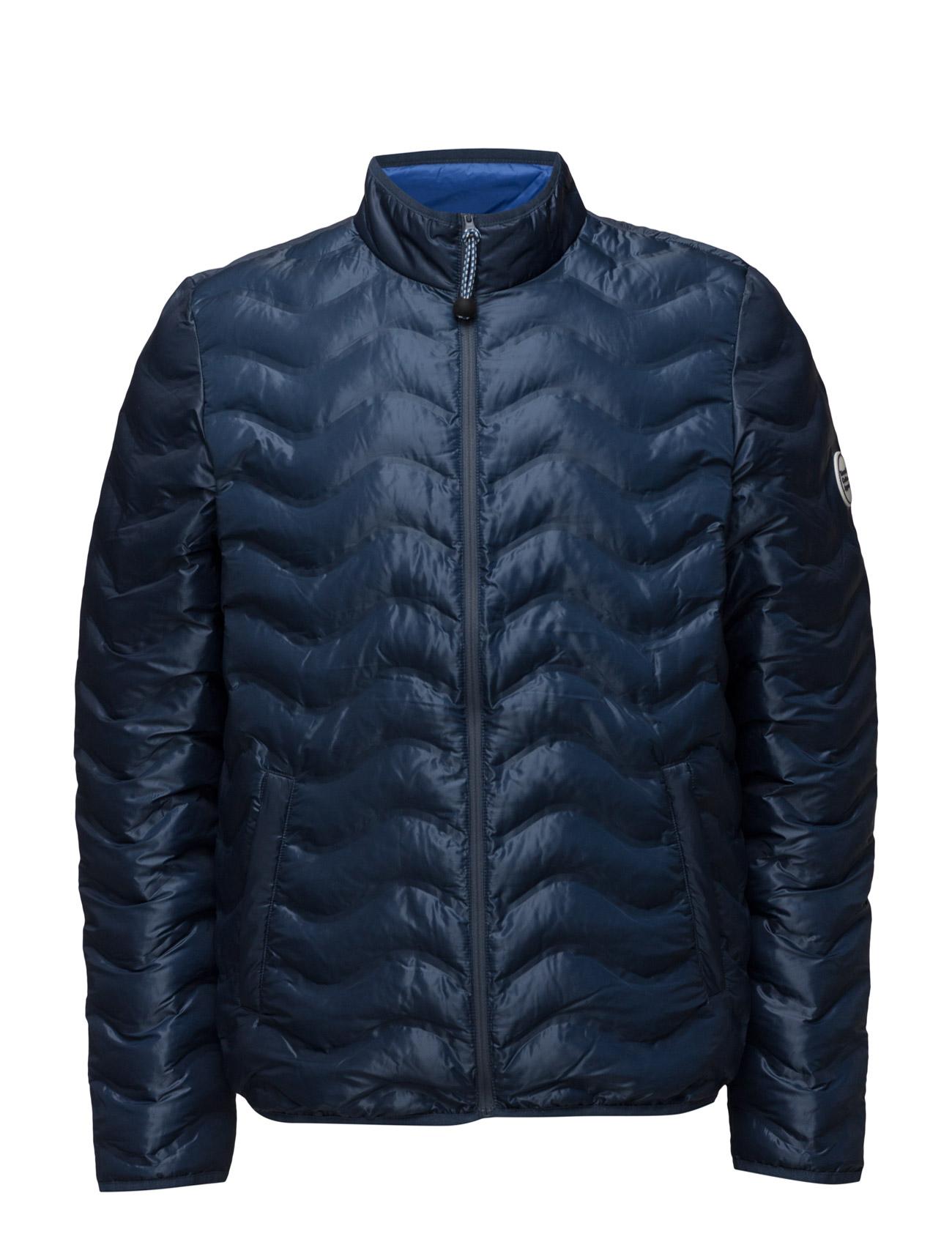 Pet Wave Quilted Jacket Knowledge Cotton Apparel Jakker til Mænd i