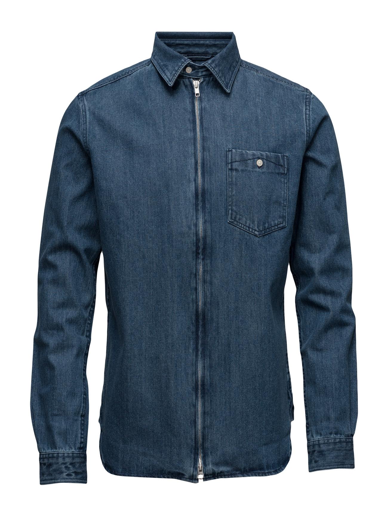 Denim Shirt W/Zipper - Gots Knowledge Cotton Apparel Casual sko til Herrer i
