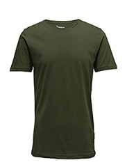 Basic Regular Fit O-Neck Tee GOTS - RIFLE GREEN