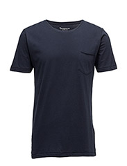 Basic Tee With Chest Pocket GOTS - TOTAL ECLIPSE