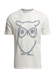 T-Shirt With Owl print - GOTS - Star White