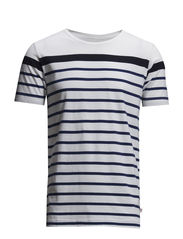 Contrast Striped T-shirt - Estate Blue