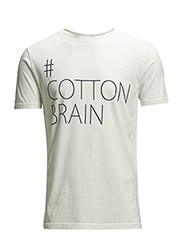 Tee w/Cotton Brain Print - GOTS - Star White