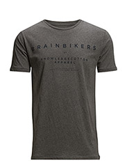 BrainBikers- GOTS - Dark Grey Melange