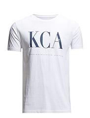 Tee W/KCA Print - GOTS - Bright White
