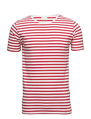 Single Jersey Yarndyed Striped T-sh - HIGH RISK RED