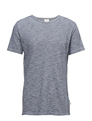 Diagonal T-Shirt - GOTS - PEACOAT