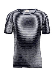 Slub Yarn Dyed T-Shirt - GOTS - PEACOAT