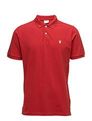 Pique Polo -  GOTS - POMPEAIN RED